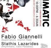 Rhythmatic go intimate this Sat for a Christmas Special with Fabio Giannelli…