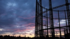 Pretty, pretty for a coupla' Gas holders.