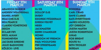 Bugged Out Weekender - Day By Day flyer