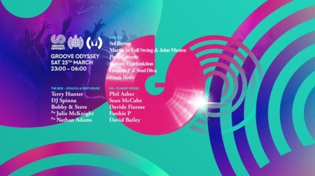 Groove Odyssey Return to Ministry Of Sound w/ Terry Hunter, DJ Spinna +more
