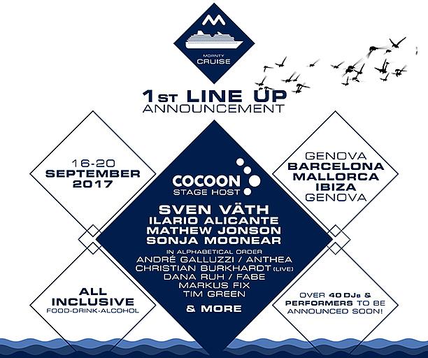 MDRNTY Cruise announces first acts including Sven Väth, Sonja Moonear, Mathew Jonson, Dana Ruh, Anthea, Ilario Alicante and more