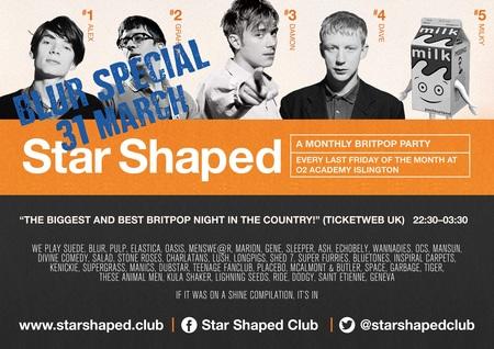 Star Shaped Club London - Blur Special!