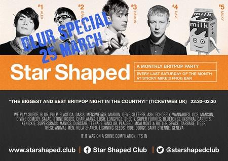 Star Shaped Club Brighton - Blur Special!