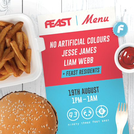 FEAST Summer Party at 93 Feet East With No Artificial Colours, Jesse James