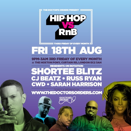 Hip-Hop vs RnB @ The Hoxton Pony, Shoreditch, London