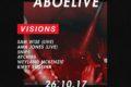 Visions x ABOELIVE: HipHop, R'n'B, Afrobeats, Bashment, Grime
