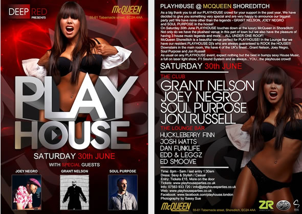 Playhouse with Grant Nelson, Joey Negro and Soul Purpose