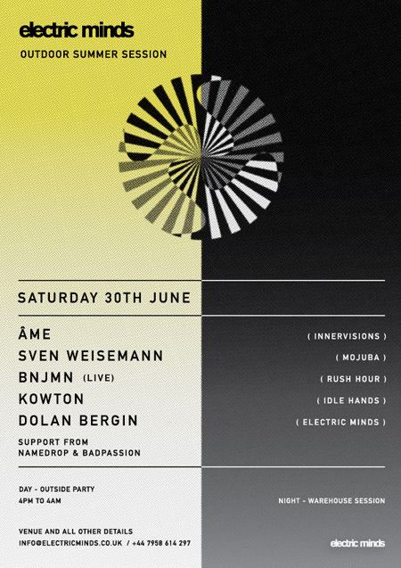 Electric Minds Summer Session with Ame, Sven Weisemann, Bnjmn & Kowton