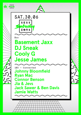 Saturday Sessions & Connected @ MOS w/ Basement Jaxx & DJ Sneak